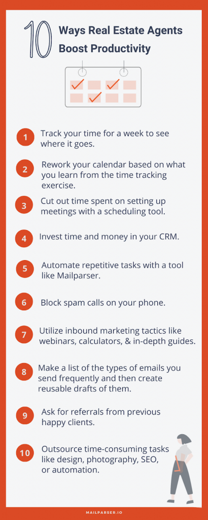 Ways Real Estate Agents Boost Productivity Infographic