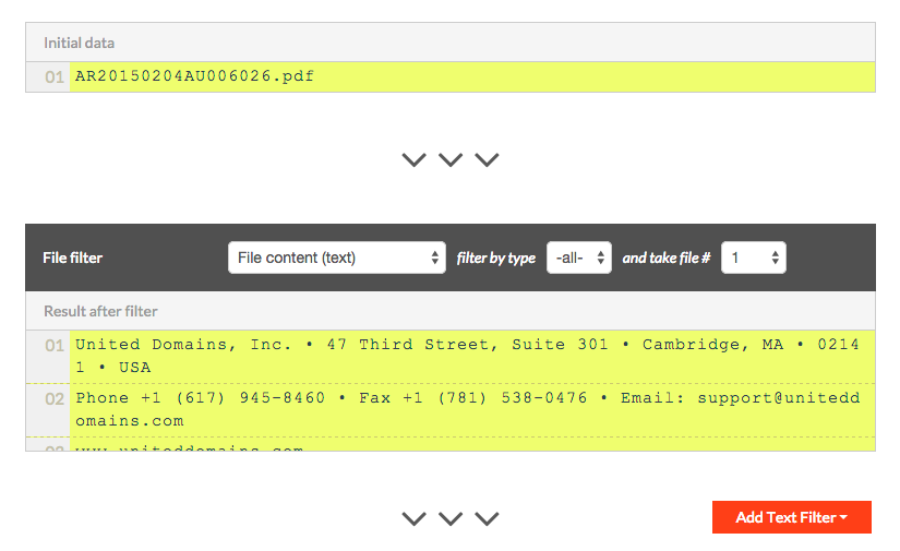 Parse Text From Email Attachments