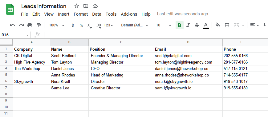 Parse Data from Excel with Mailparser to Google Sheets