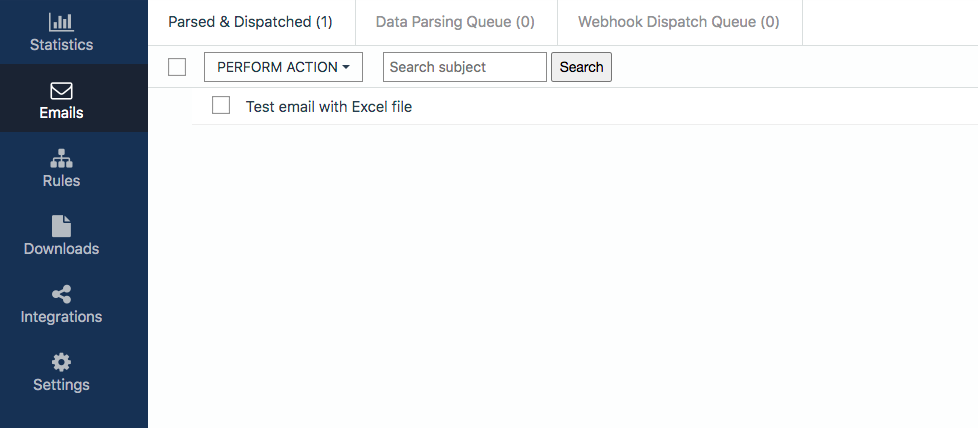 How to Parse Data from Excel with Mailparser Select Email