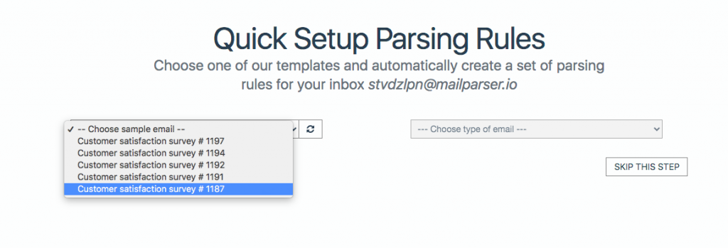 Mailparser Automatic Parsing Rules