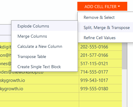 Parse Data from Excel with Mailparser Add Third Filter