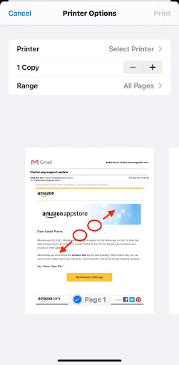 Save Email on Ipad