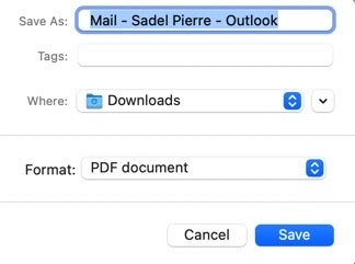 Save Outlook Emails
